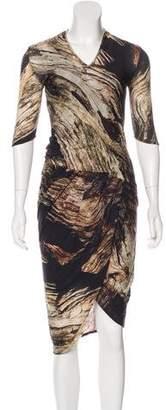 Helmut Lang Wool Printed Dress