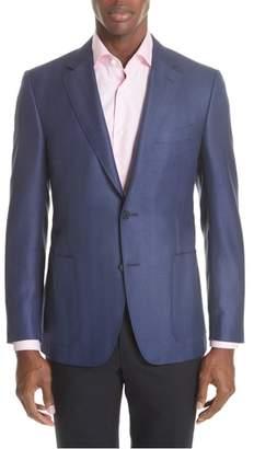 Canali Venezia Classic Fit Herringbone Wool Blend Sport Coat
