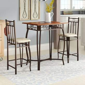 August Grove Barcelona 3 Piece Counter Height Pub Table Set August Grove