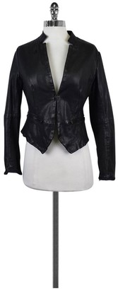 G Star- Black Leather Jacket Sz S