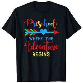 Arrow Hearts Team Preschool Adventure Begins Funny Tshirt