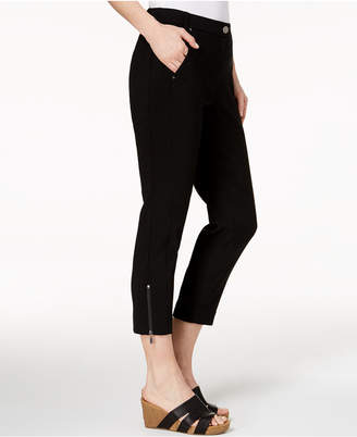 Style&Co. Style & Co Zip-Detail Ankle Skinny Pants, Created for Macy's