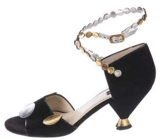 Marc Jacobs Suede Ankle Strap Sandals