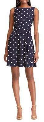 Chaps Twist-Front Jersey Fit--Flare Dress