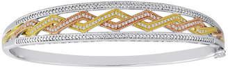 FINE JEWELRY 1/4 CT. T.W. Diamond Tri-Tone Bangle Bracelet