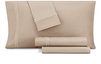 Aq Textiles Closeout! Aq Textiles Double Merrow Embellished 4-Pc Queen Sheet Set, 700 Thread Count Cotton Blend Bedding