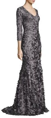 Theia V-Neck Petal Gown $1,295 thestylecure.com