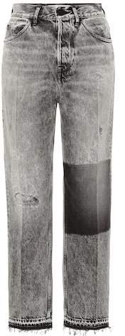 Komo high-rise wide-leg jeans