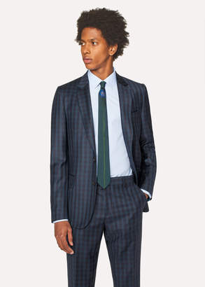 Paul Smith Men's Tailored-Fit Dark Green Check Wool Blazer