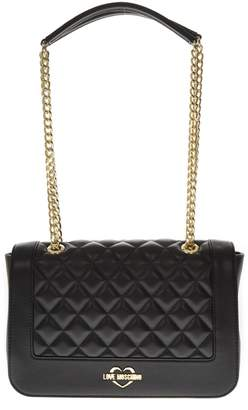 Love Moschino Black Quilted Faux Leather Bag