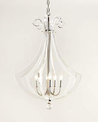 Regina-Andrew Design Regina Andrew Design Acrylic Silhouette Six-Light Chandelier