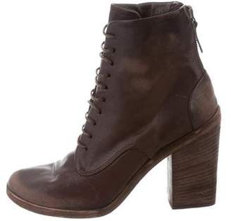 Marsèll Distressed Leather Ankle Boots