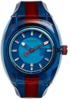 Gucci - Sync Web Striped Watch - Mens - Blue Multi