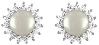 Majorica Imitation Pearl & Cubic Zirconia Stud Earrings