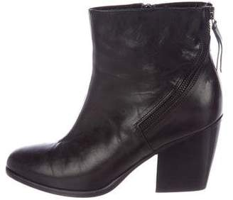 Alberto Fermani Leather Round-Toe Ankle Boots