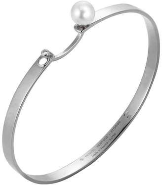 Nouvel Heritage Lunch With Mom Bangle Bracelet - White Gold