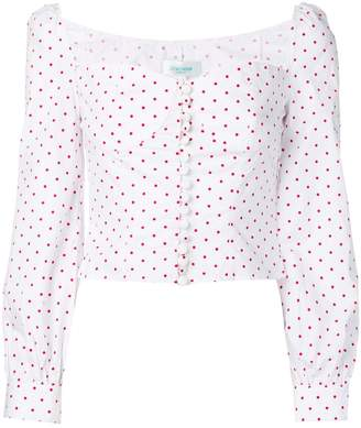 Jovonna London Siven dotted blouse