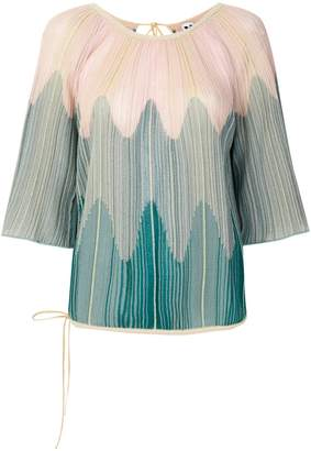 M Missoni open-back rib knit top