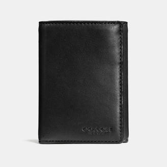 COACH Coach Trifold Wallet In Sport Calf Leather $150 thestylecure.com