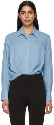 Balmain Blue Linen Shirt