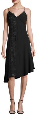 Asymmetrical Lace Panel Slip Dress $298 thestylecure.com