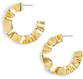 Kate Spade Textured Hoop Earrings