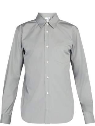 Comme des Garcons Logo Print Cotton Shirt - Mens - Grey
