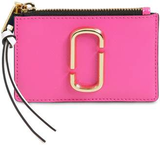 Marc Jacobs Leather Top Zip Card Holder