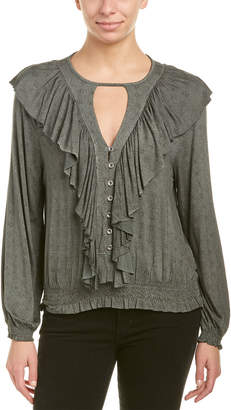 Anama Draped Ruffle Top