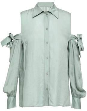 Baum und Pferdgarten Manjuls Cold-shoulder Printed Seersucker Shirt