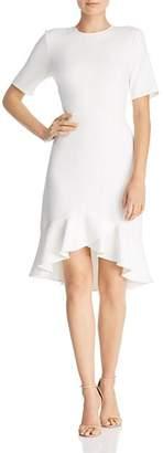 Shoshanna Alessia Crepe Fluted-Hem Dress