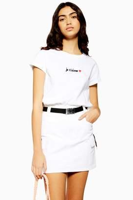 Topshop Womens J'Taime T-Shirt - White