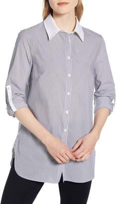 Ming Wang Mixed Stripe Shirt