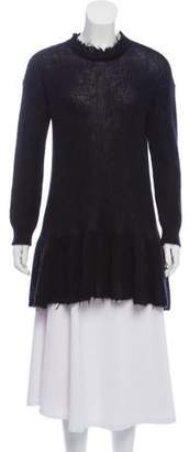 RED Valentino Long Sleeve Pleated Sweater w/ Tags