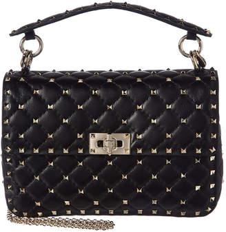 Valentino Rockstud Spike Medium Quilted Leather Shoulder Bag