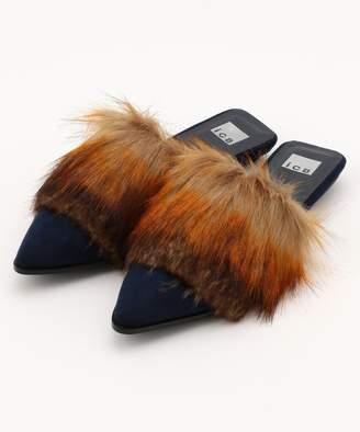 ICB (アイシービー) - ICB Fake Fur Slippers シューズ(C)FDB