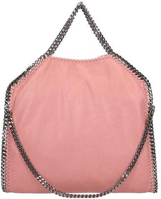 Stella McCartney Falabella Fold Over Tote Pink Faux Leather Bag