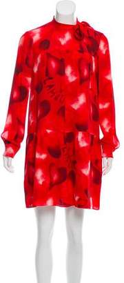 Valentino Silk Heart Print Dress