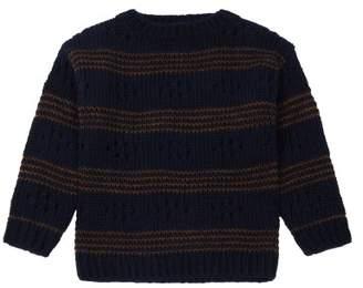 Bellerose Asto Alpaga Wool Openwork Sweatshirt