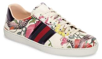 Gucci New Ace Flora Snake Sneaker