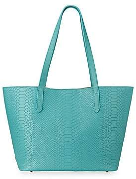 GiGi New York Women's Teddie Snake-Embossed Leather Tote Bag