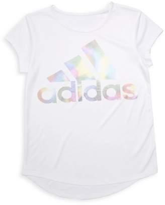 f1fd40b99 adidas Girl's Climalite Rainbow-Foil Interlock Tee