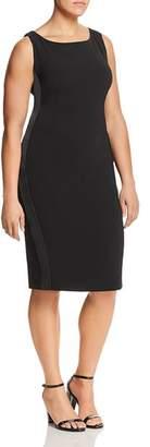 Marina Rinaldi Duo Side Stripe Sheath Dress