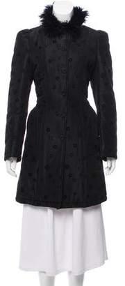 Christian Lacroix Bazar de Patterned Knee-Length Coat