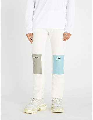 Raf Simons Patchwork relaxed-fit jeans