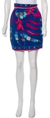 Emilio Pucci Floral Print Mini Skirt