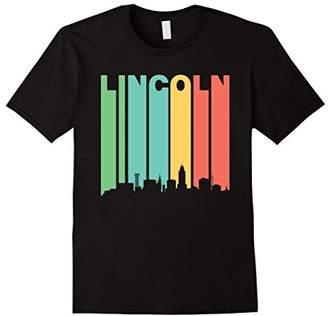Retro 1970's Lincoln Nebraska Downtown Skyline T-Shirt