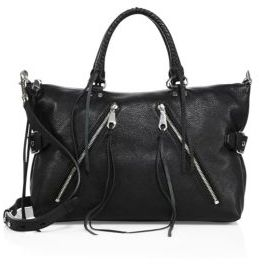 Rebecca Minkoff Large Leather Moto Satchel $395 thestylecure.com