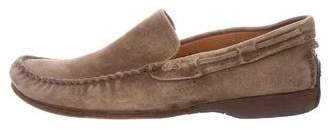 John Varvatos Distressed Suede Loafers