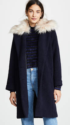 ei8htdreams Nubby Wool Oversized Coat with Detachable Collar